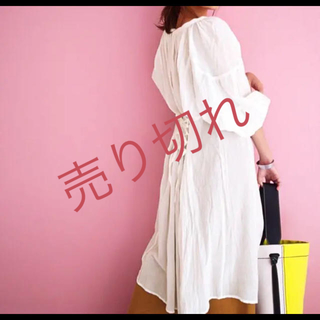 ティティベイト(titivate)の☆新品☆袖ボリュームレースアップワンピース(ロングワンピース/マキシワンピース)