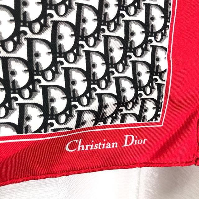 Christian Dior(クリスチャンディオール)のCD クリスチャンディオール トロッター柄 スカーフ 正規品 レディースのファッション小物(バンダナ/スカーフ)の商品写真
