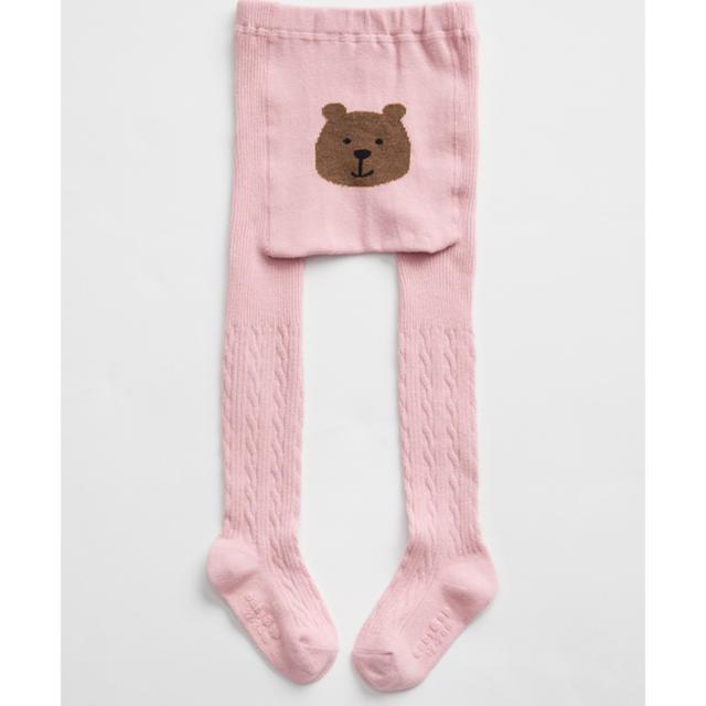 babyGAP(ベビーギャップ)のbabygap  くまタイツ 12ヶ月〜24ヶ月 80 90 キッズ/ベビー/マタニティのこども用ファッション小物(靴下/タイツ)の商品写真