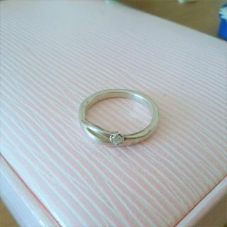 ヨンドシー(4℃)の最終価格♪【4℃】silver☆5号☆ウェーブ☆リング☆ダイヤモンド?CZ?(リング(指輪))