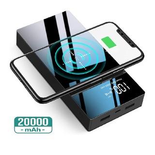 モバイルバッテリー 20000mAh Qi対応 PSE認証済