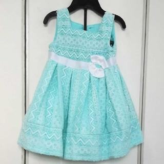 コストコ - 【未使用!パニエ&アンダーパンツ付き】サイズ12M総レースの水色ドレス