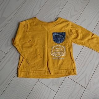 80cm ロングTシャツ ロンT マスタード