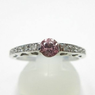 超希少石ピンクゾイサイト0.237ct ソーティングあり〼 プラチナ製指輪(リング(指輪))