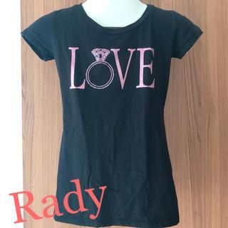レディー(Rady)のRady LOVE ビジュー Tシャツ(Tシャツ(半袖/袖なし))