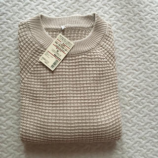 MUJI (無印良品) - 無印良品 リンクス編み クルーネックセーター  ベージュM