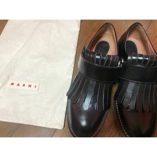 マルニ(Marni)のMARNI マルニ フリンジフラットシューズ 37 ブーツ acne(ブーツ)