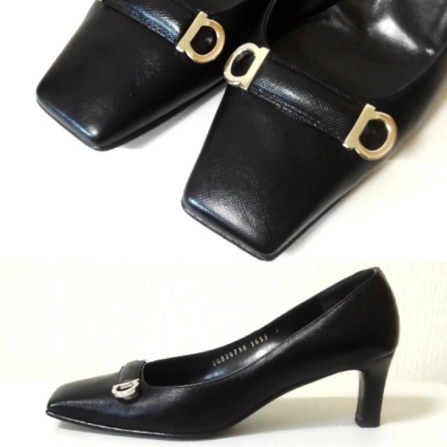 Salvatore Ferragamo(サルヴァトーレフェラガモ)のフェラガモ☆ガンチーニ☆パンプス レディースの靴/シューズ(ハイヒール/パンプス)の商品写真
