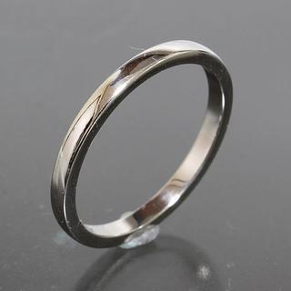 カルティエ(Cartier)のカルティエ cartier シンプル プラチナ リング size56 pt950(リング(指輪))