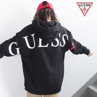 GUESS - 即日発送!!GUESSバックプリント ビッグパーカー  ブラック L
