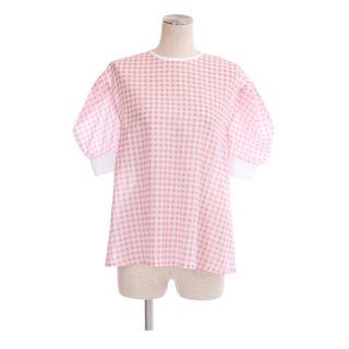 BARNEYS NEW YORK - OBLI ギンガムチェックシャツ ピンク