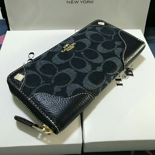COACH(コーチ)のCOACHコーチ ファスナー長財布F53769 メンズのファッション小物(長財布)の商品写真