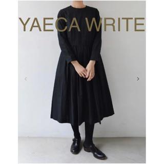 YAECA - 【YAECA ヤエカ】タックドレス ブラック 黒 ワンピース 二次会 ドレス
