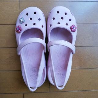 クロックス(crocs)のクロックス ピンクサンダル W6(サンダル)
