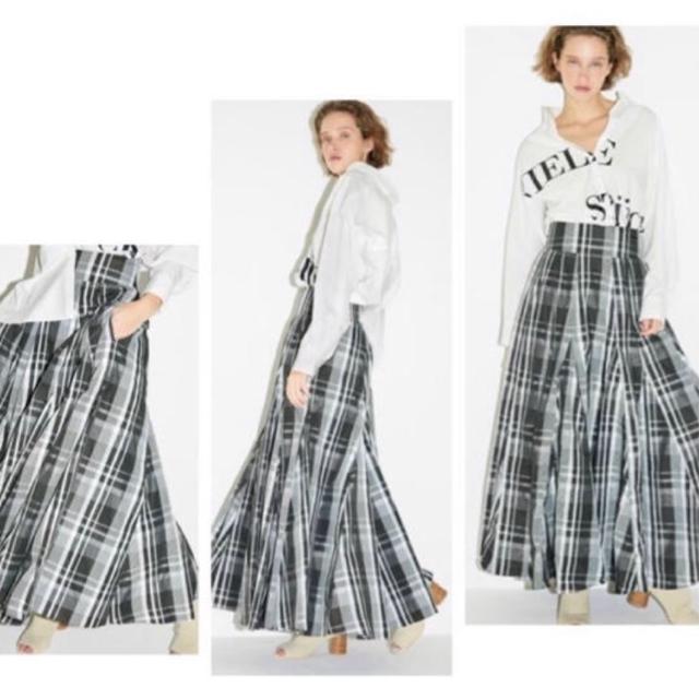 FRAY I.D(フレイアイディー)のフレイID☆ランダムマルチタフタスカート レディースのスカート(ロングスカート)の商品写真