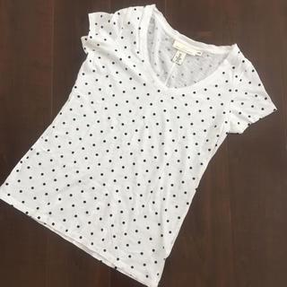 H&M/エイチアンドエム/Tシャツ/白/ドット