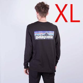 patagonia - 新品 XL パタゴニア ロングスリーブ P6 ロゴ 長袖Tシャツ 黒 ロンT長T