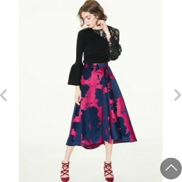 FRAY I.D(フレイアイディー)の【値下げ】フレイアイディー フロッキーロングフレアースカート レディースのスカート(ロングスカート)の商品写真