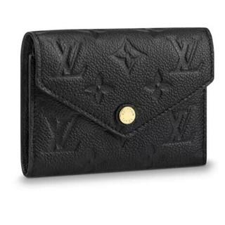 LOUIS VUITTON - LV 財布 ロゴ 3つ折り ノワール ブラック ゴールド