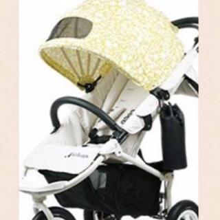 エアバギー(AIRBUGGY)の【 着せ替えシート 】エアバギー   バニラブラン クォーターリポート(ベビーカー用アクセサリー)