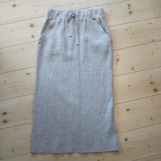 ローリーズファーム(LOWRYS FARM)の今季商品 値下げ!ローリーズファーム グレーのワッフルタイトスカートLサイズ(ひざ丈スカート)