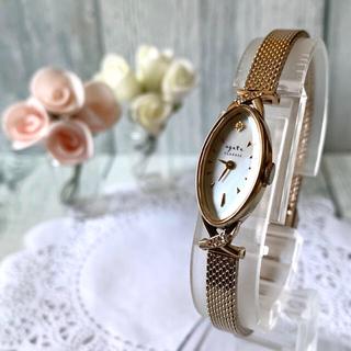 アガット(agete)の【動作OK】agete アガット 腕時計 クラシック K10 0.052ct(腕時計)