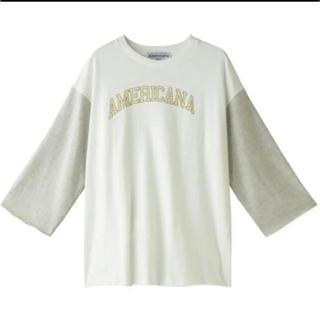 アメリカーナ(AMERICANA)のアメリカーナ ベースボールTシャツ(Tシャツ(長袖/七分))