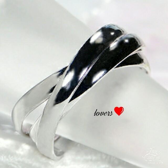 送料無料 20号 シルバーサージカルステンレス三連リング 指輪 トリニティリング レディースのアクセサリー(リング(指輪))の商品写真