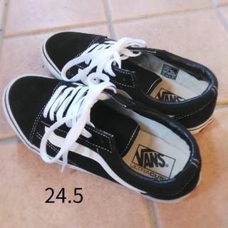 VANS - VANS バンズ オールドスクール スニーカー 黒 24.5