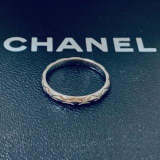 CHANEL - プラチナ マトラッセ ダイヤモンド リング
