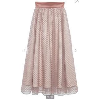 Lily Brown - リリーブラウン ビーズ刺繍ロングスカート