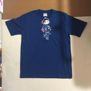 サンリオ - ペコちゃん 刺繍 Tシャツ ネイビー