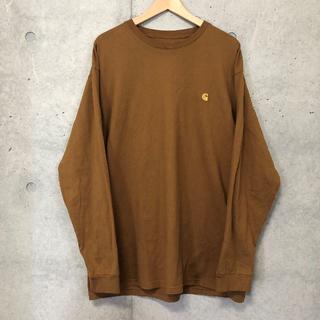 carhartt - Carhartt wip ロゴ 刺繍 長袖 Tシャツ XL キャメル ブラウン