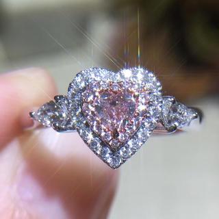 お得GIA♡ファンシーライトピンクダイヤモンド指輪(リング(指輪))