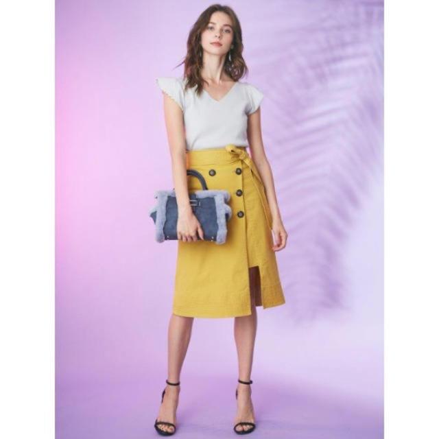 MERCURYDUO(マーキュリーデュオ)のラップ風トレンチスカート レディースのスカート(ひざ丈スカート)の商品写真