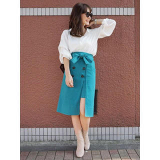 MERCURYDUO - ラップ風トレンチスカート