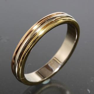 カルティエ(Cartier)のカルティエ cartier スリーカラー リング size57 4.9g K18(リング(指輪))