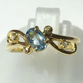 リング ダイヤモンド 指輪 k18yg イエローゴールド ダイヤリング(リング(指輪))