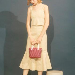 リリーブラウン(Lily Brown)のlilybownデザインステッチスカート(ロングスカート)