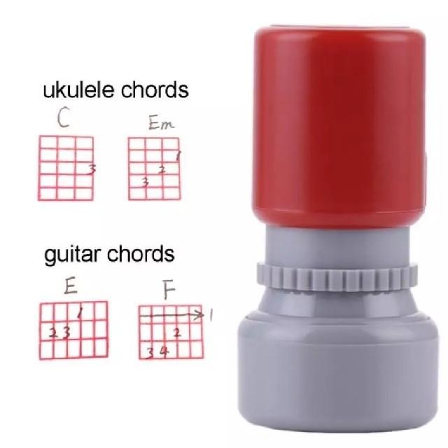 ウクレレコードスタンプ ギターコードスタンプ  レッド 楽器のウクレレ(その他)の商品写真