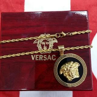 ヴェルサーチ(VERSACE)の男女兼用 VERSACE 超美品 ネックレス ヒップホップ ファッション小物(ネックレス)