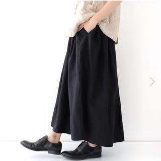 ヴェリテクール(Veritecoeur)のヴェリテクール veritecoeur 新品 リネン ブラック スカート(ロングスカート)