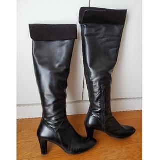 バークレー(BARCLAY)のバークレー ロングブーツ 黒 24.5㎝(ブーツ)