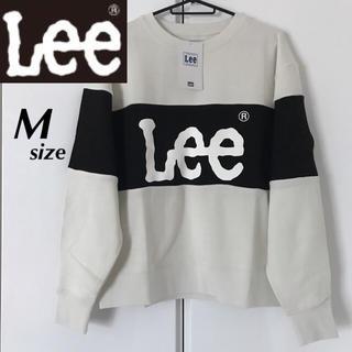 Lee - 【定価6469円】Lee ビッグロゴ 配色パネル トレーナー 白×黒 M