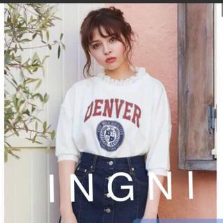 INGNI - 新品★ I N G N Iイング★裏毛カレッジロゴレースレイヤートップス5分袖