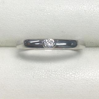 ★大きめの18号★プラチナPt900・美ダイヤモンドリング★0.06ct(リング(指輪))