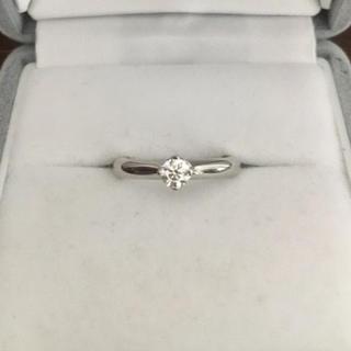 フォーエバーマーク ダイヤモンド リング Pt950 0.195ct VVS-1(リング(指輪))