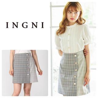 INGNI - チェック切替いろいろボタン台形/スカート