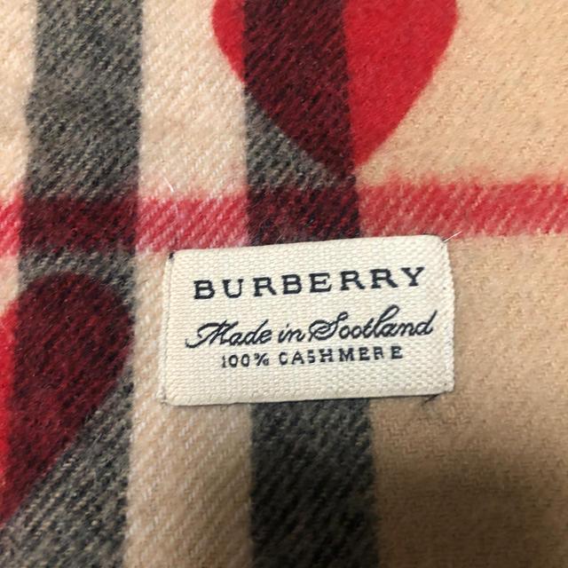 BURBERRY(バーバリー)のBURBERRY カシミヤハートマフラー レディースのファッション小物(マフラー/ショール)の商品写真
