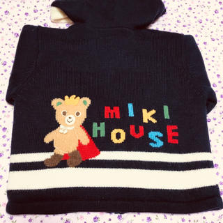 mikihouse - ミキハウス ニット ジップアップジャケット 100size
